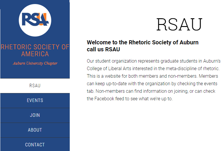 RSA at Auburn Homepage